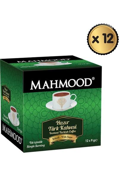 Mahmood Coffee Hazır Türk Kahvesi Şekerli 9 gr x 12 Paket -1 Koli