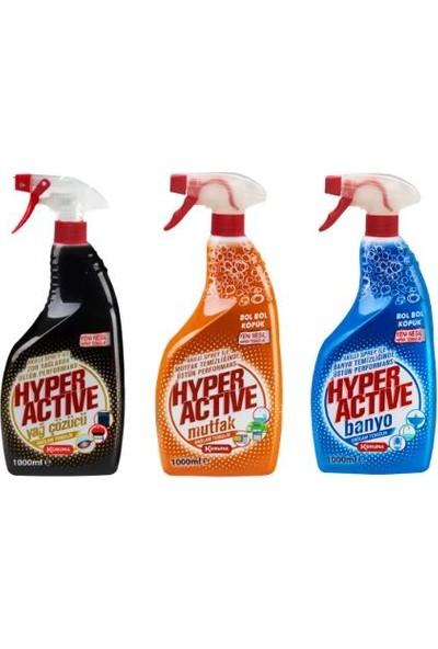 Hyper Active 3'lü Mutfak Banyo Yağ Çözücü