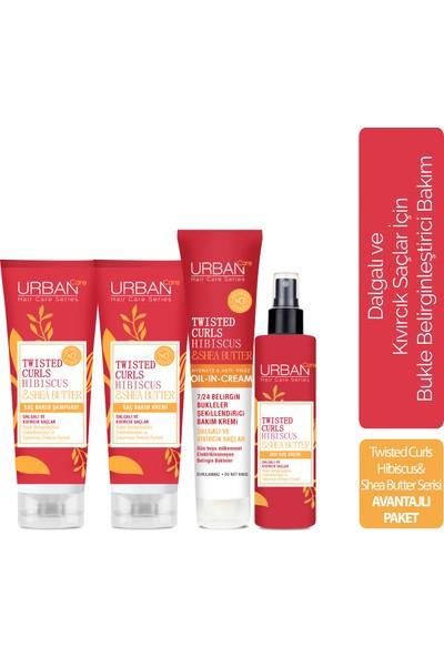 Urban Care Hibiscus & Shea Butter Şampuan + Krem + Sıvı Krem + Durulanmayan Bakım Kremi