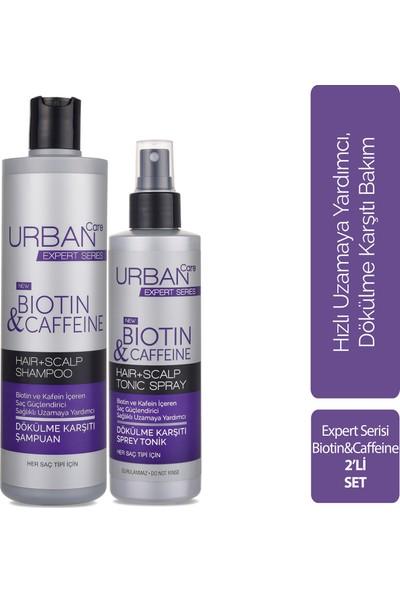 Urban Care Biotin ve Kafein Içeren Saç Kökü Güçlendirici Hızlı Uzamaya Yardımcı Şampuan 350 ml + Biotin ve Kafein Içeren Saç Kökü Güçlendirici Hızlı Uzamaya Yardımcı Tonik 200 ml