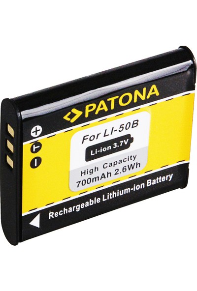 Patona Olympus LI50B MJU1010 MJU1020 1030 İçin LI-50B Batarya