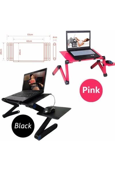 IPC Fonksiyonel Portatif Katlanabilir Laptop Sehpası - Siyah