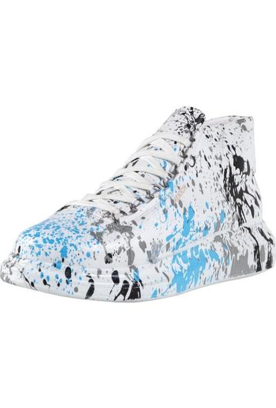Chekich CH265 Bt Erkek Ayakkabı Mavi Benekli