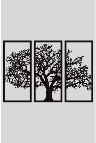 Alfagama Modern Ahşap 3 Parçalı Ağaç Tablosu