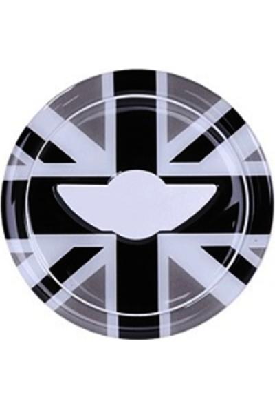 Mediatech Mini Cooper Countryman 3D Araba Direksiyon Amblem Yapışkanı Ingiliz Siyah Beyaz