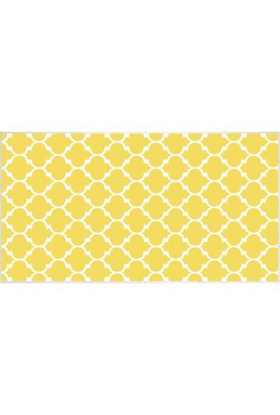 EXCLUSIVE Toprak Dijital Halı Paula Geometrik Sarı Beyaz 80 x 120 cm