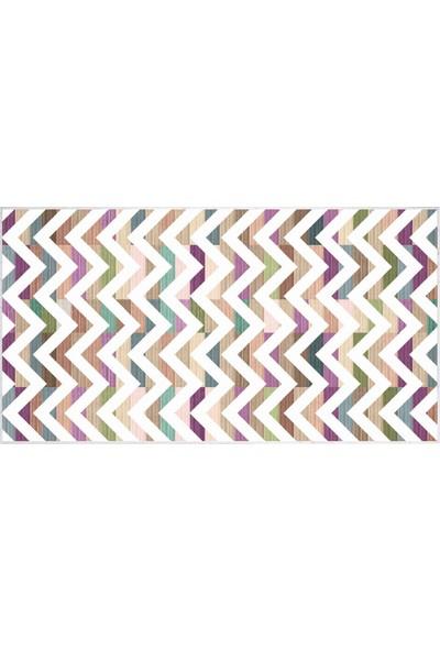 EXCLUSIVE Saray Dijital Halı Ollie Geometrik Çok Renkli 80 x 120 cm