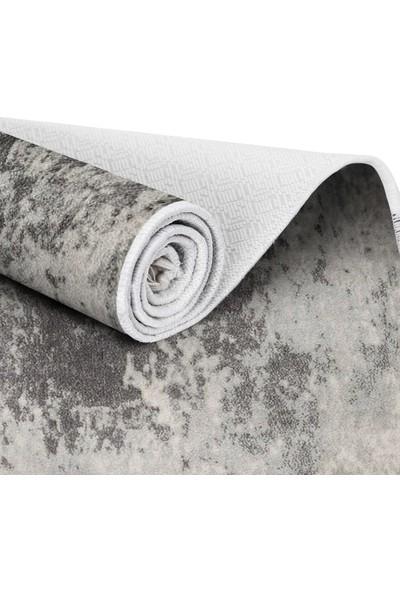 EXCLUSIVE Toprak Dijital Halı Saçaklı Patsy Soyut Gri 80 x 120 cm