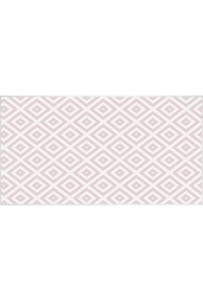 EXCLUSIVE Saray Dijital Halı Sarah Geometrik Beyaz Pudra 80 x 120 cm