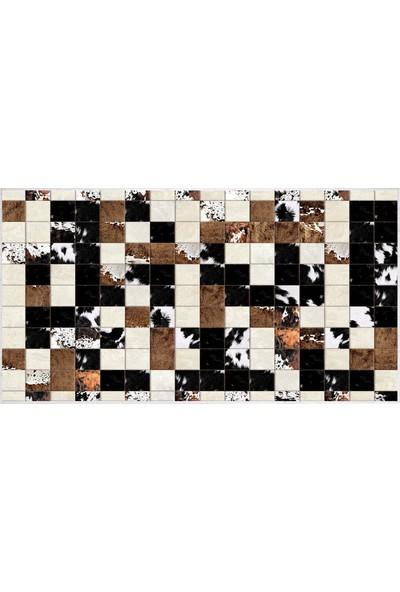 EXCLUSIVE Saray Dijital Halı Pearl Post Kahverengi Siyah 80 x 120 cm