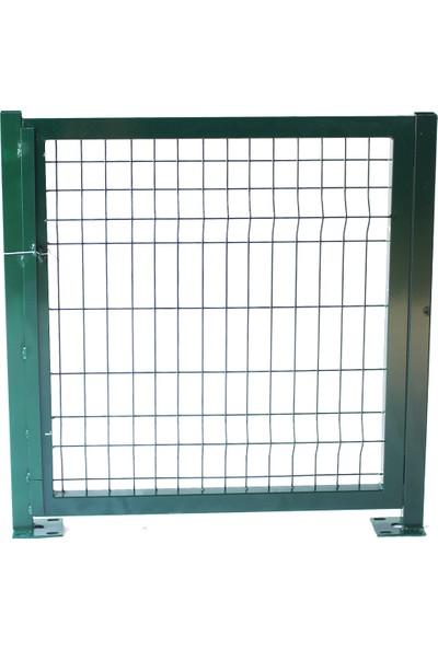 Batı Tel Örgü Panel Çit Kapı Yeşil Sol Dış 100 x 100 cm