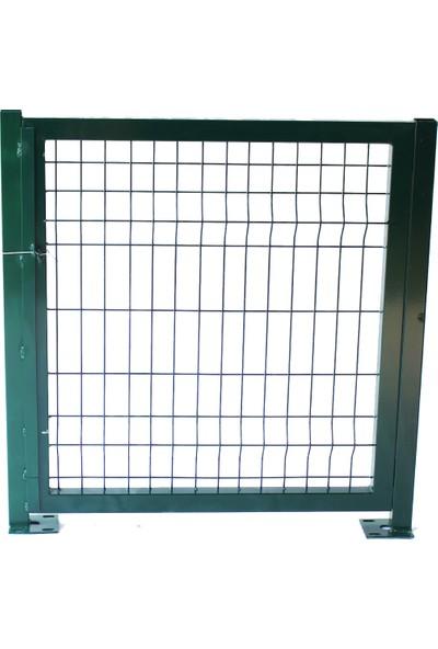 Batı Tel Örgü Panel Çit Kapı Yeşil Sol İç 100 x 100 cm