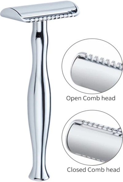Qualis Shave S5 Tıraş Makinesi + Fırça + Kase + 5 Adet Jilet