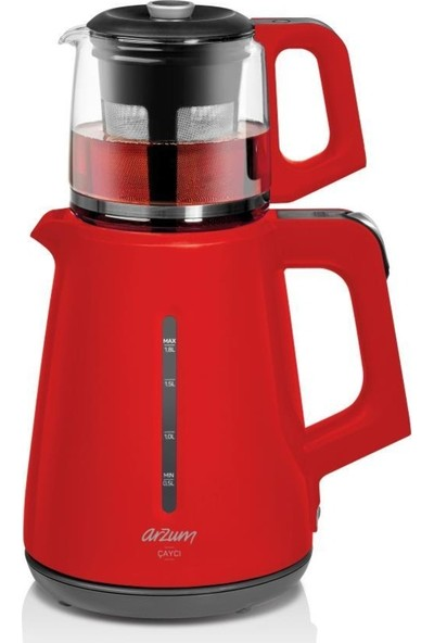 Arzum AR3061 Çaycı 1700 W Cam Demlikli Çay Makinesi