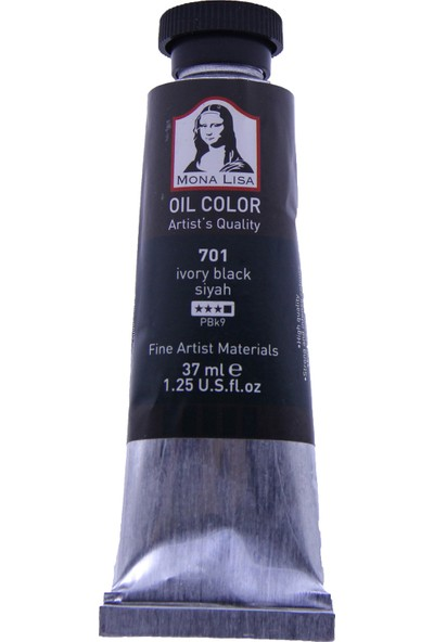 Mona Lisa 701 Yağlı Boya 37 ml Siyah
