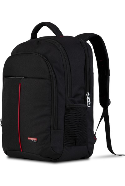 Classone BP-G100 17 inç Notebook Sırt Çantası-Siyah