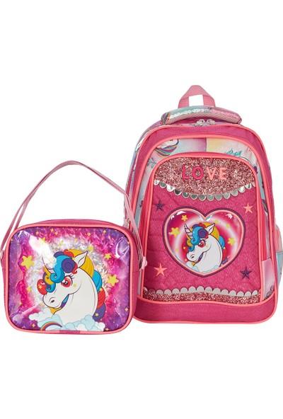 Fudela Gökkuşağı Unicorn Okul Takım Çantası