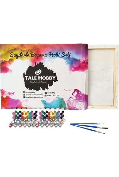 Tale Hobby Sayılarla Boyama Hobi Seti - Büyük Ölçü Çerçeveli - Atlar 60 x 75 cm