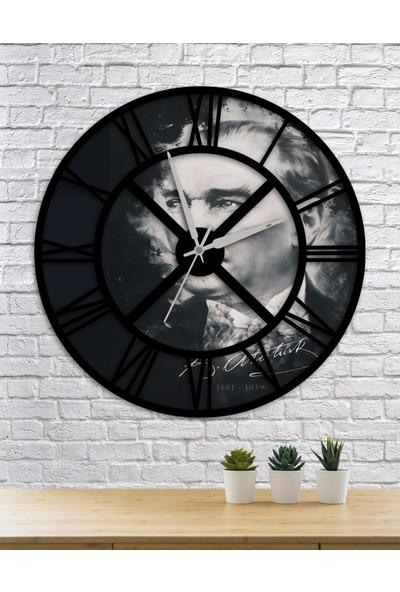 Homecept Mustafa Kemal Atatürk Temalı 48 cm Duvar Saati
