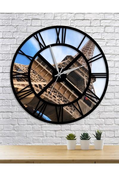 Homecept Eyfel Kulesi Temalı 48 cm Duvar Saati