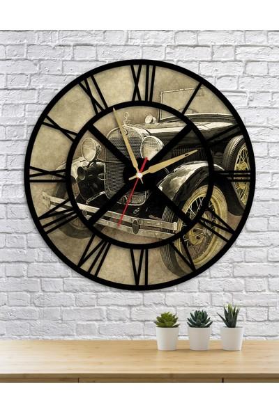Homecept Eski Araba Temalı Duvar Saati