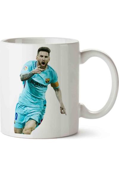 Art Hediye Messi Turkuaz Barcelona Kupa Bardak
