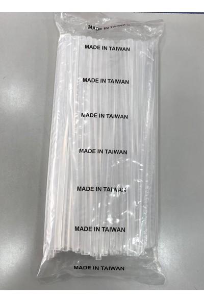 Mina Carin Sıcak Mum Silikon Ince Çubuk Silikon Şeffaf 7 mm x 30 cm 1 kg