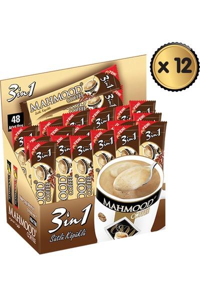 Mahmood Coffee 3ü1 Arada Sütlü Köpüklü 48 Adet x 12 Paket -1 Koli