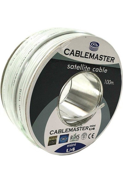 Cablemaster Mini U4 Ince Anten Kablosu - 100M