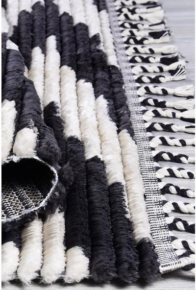 Kuga Butik Siyah Beyaz Dokuma Post Halı 2733 120 x 170 cm