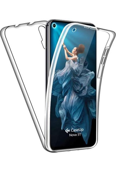 CaseUp Huawei Nova 5T Kılıf 360 Çift Taraflı Silikon Şeffaf