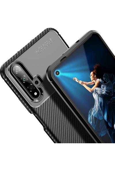 CaseUp Huawei Nova 5T Kılıf Fiber Design Kahverengi
