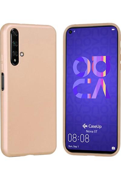 CaseUp Huawei Nova 5T Kılıf Matte Surface Gold