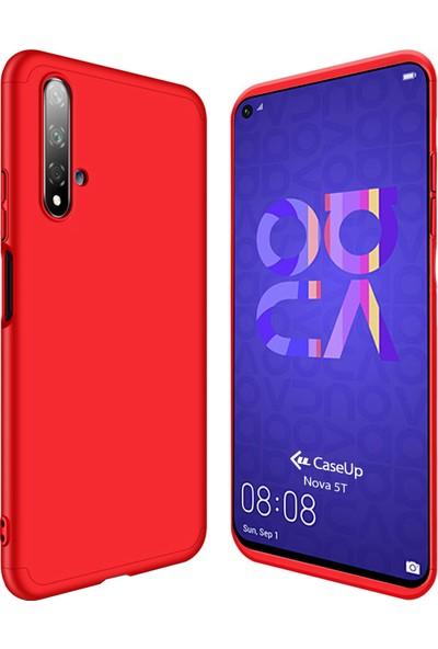 CaseUp Huawei Nova 5T Kılıf Triple Deluxe Shield Kırmızı