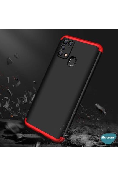 Microsonic Samsung Galaxy M31 Kılıf Double Dip 360 Protective Siyah