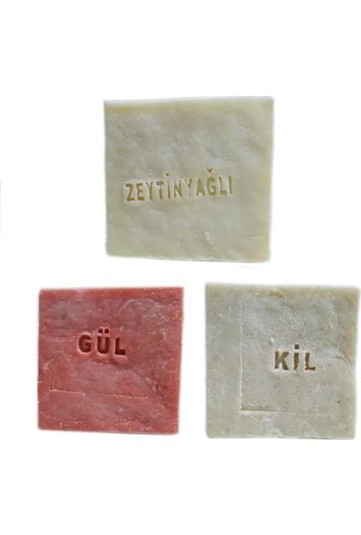 Pakel Gül Sabunu Kil Sabunu ve Zeytinyağlı Sabun 155 gr 3'lü Paket