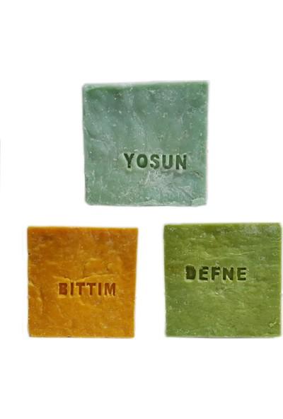 Pakel Bıttım Sabunu Defne Sabunu ve Yosun Sabunu 155 gr 3'lü Paket
