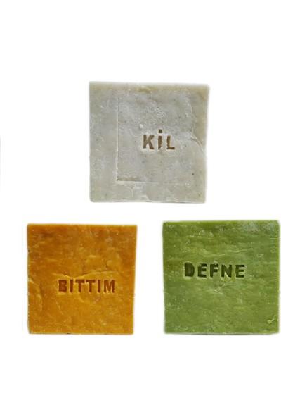 Pakel Bıttım Sabunu Defne Sabunu ve Kil Sabunu 155 gr 3'lü Paket