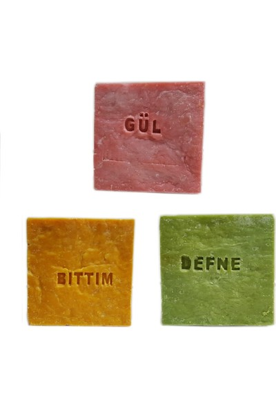 Pakel Bıttım Sabunu Defne Sabunu ve Gül Sabunu 155 gr 3'lü Paket