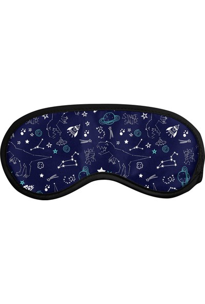 Cupgel Cpart Uzay Desenli Uyku Göz Bandı