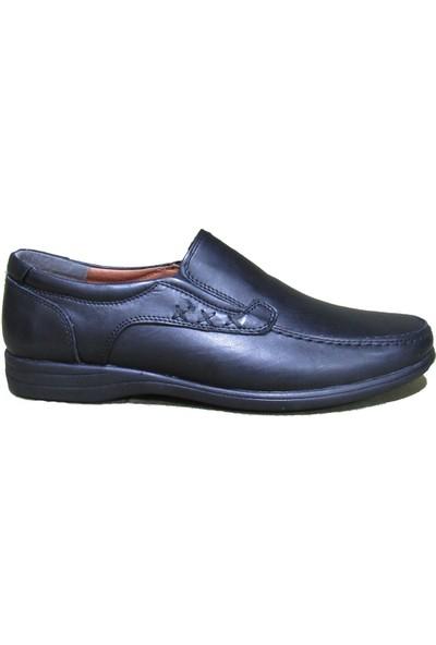 Flies Siyah Deri Erkek Ayakkabı