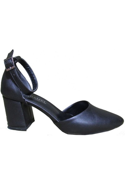 Caramel Siyah Klasik Topuklu Kadın Ayakkabı