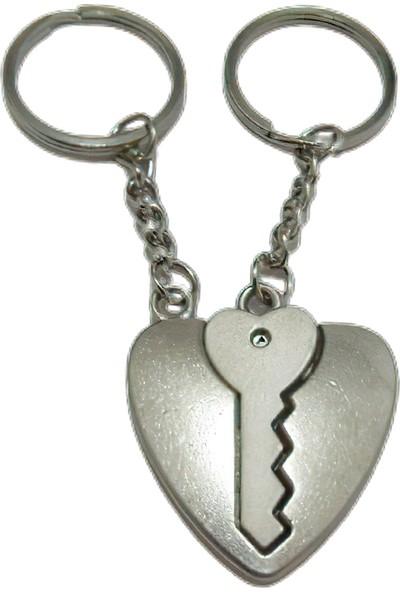 Idea Kalp Içinde Anahtarlık Tasarımında Döküm Metal Çiftli Anahtarlık