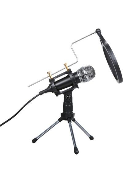 Buyfun Kablolu Kondenser Mikrofon Ses 3.5 mm Stüdyo Mic Vokal (Yurt Dışından)