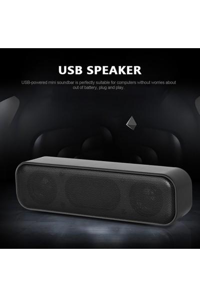 Buyfun USB Powered Soundbar Masaüstü Hoparlör Kablolu Bilgisayar (Yurt Dışından)