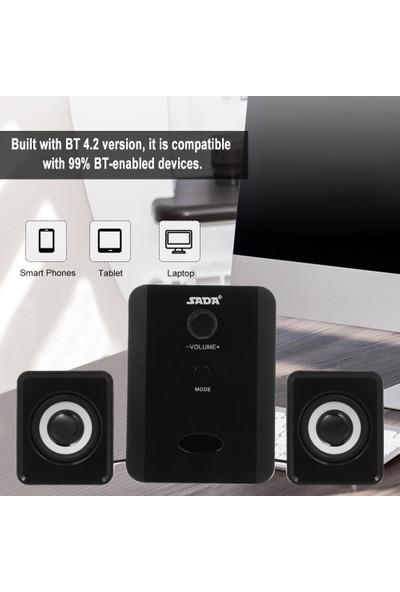 Sada D-201 USB Kablolu Bluetooth Hoparlör Seti Bilgisayar (Yurt Dışından)