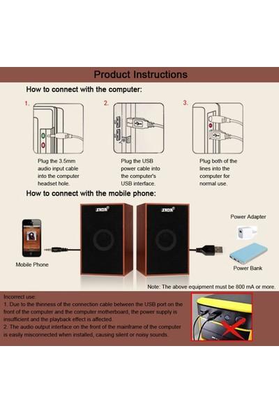 Sada V-160 USB Kablolu Ahşap Kombinasyon Hoparlörler (Yurt Dışından)