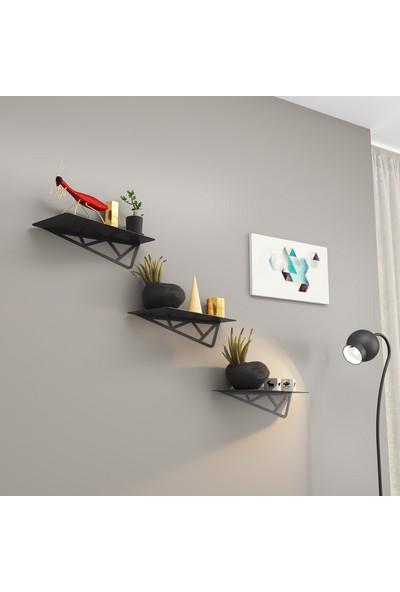 M&c Concept Nida 3'lü Duvar Rafı - Siyah