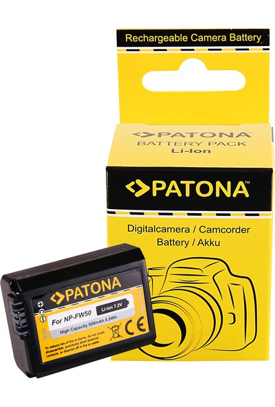 Patona Sony Nex.3 Nex.3c Nex.5 NEX.5A İçin NP-FW50 Batarya