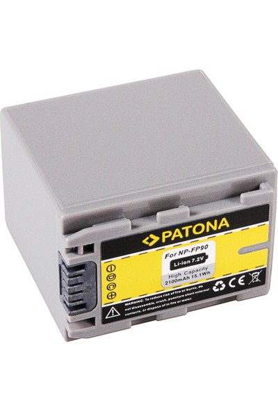 Patona Sony DCR-HC23 HC24 HC35 İçin NP-FP60 FP70 FP90 Yerine NP-FP90 Batarya